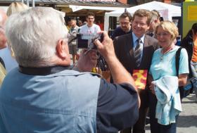 Würzburger Gesundheitstag 2008: Photo mit dem neuen Oberbürgermeister Georg Rosenthal